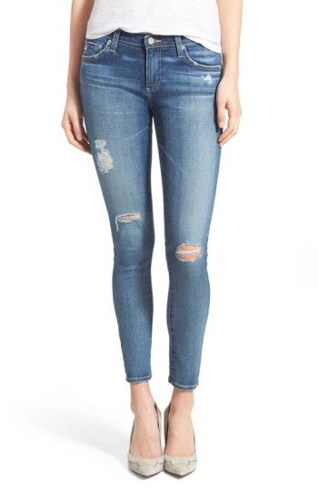 Free shipping and returns on AG 'The Legging' Ankle Jeans (11 Year Swap Meet) at Nordstrom.com. Vintage fading and whiskering accent medium-blue stretch jeans fashioned with skinny legs. Contrast stitching on the back pockets brands the look.