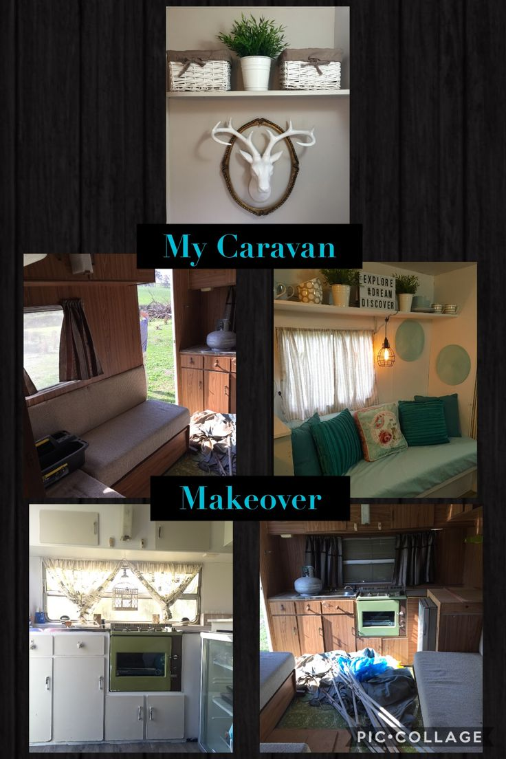 Best My S Viscount Caravan Makeover Images On Pinterest - Old shabby trailer gets one hell makeover