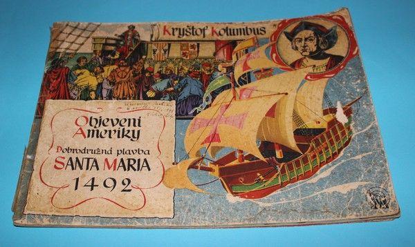 STARÉ,PODEPSANÉ A VZÁCNÉ KNIHY | Kryštof Kolumbus Objevení Ameriky | Antikvariát Kodytek