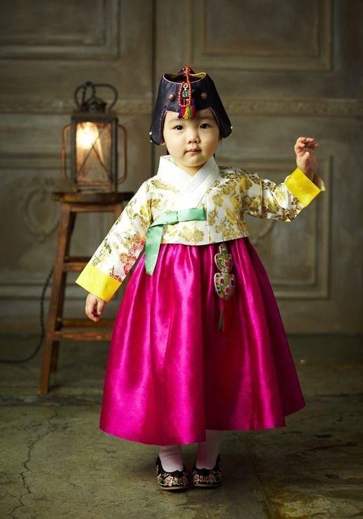 Korean kid wearing #hanbok (한복)