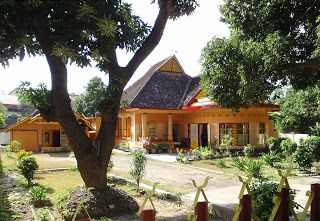 Bala Kuning (yellow house), manor of Sultan Muhammad Kaharuddin III, Sultanate of Sumbawa, Sumbawa Island, Nusa Tenggara Barat province, Indonesia.