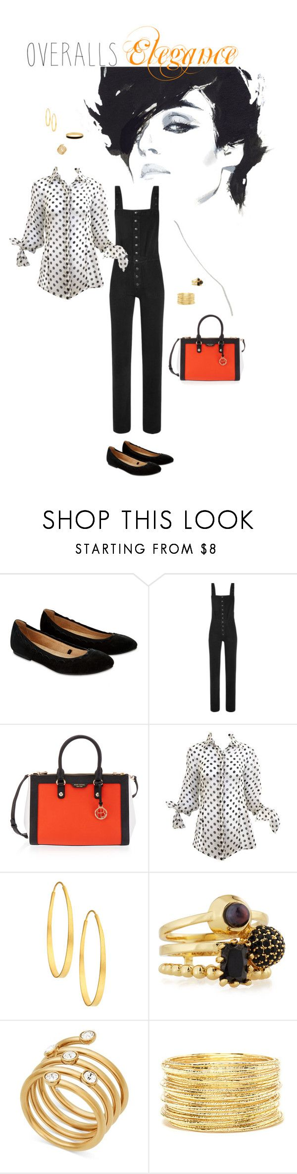 """""""Overalls Elegance"""" by anitamauro ❤ liked on Polyvore featuring Accessorize, M.i.h Jeans, Henri Bendel, Arena CPH, Eddie Borgo, Michael Kors, Forever 21 and Halcyon Days"""