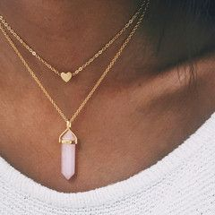 Rose Quartz - Gold | Stargaze Jewelry