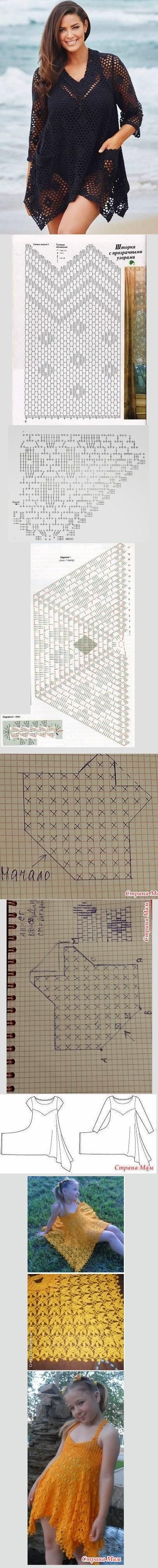 Bathing suit cover pattern.