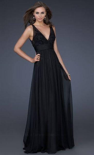 Mardi Gras Black Evening Dresses