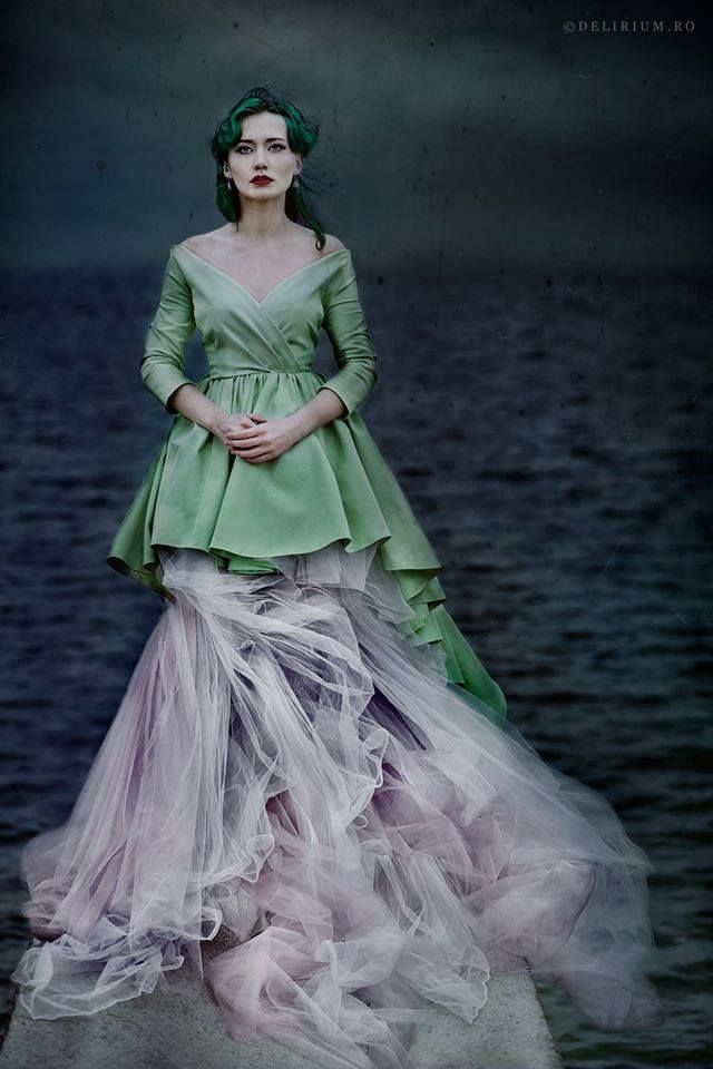 by Andreea Retinschi #andreeaverde #andreearetinschi #fairytale #dress #lachatterie #greenhair