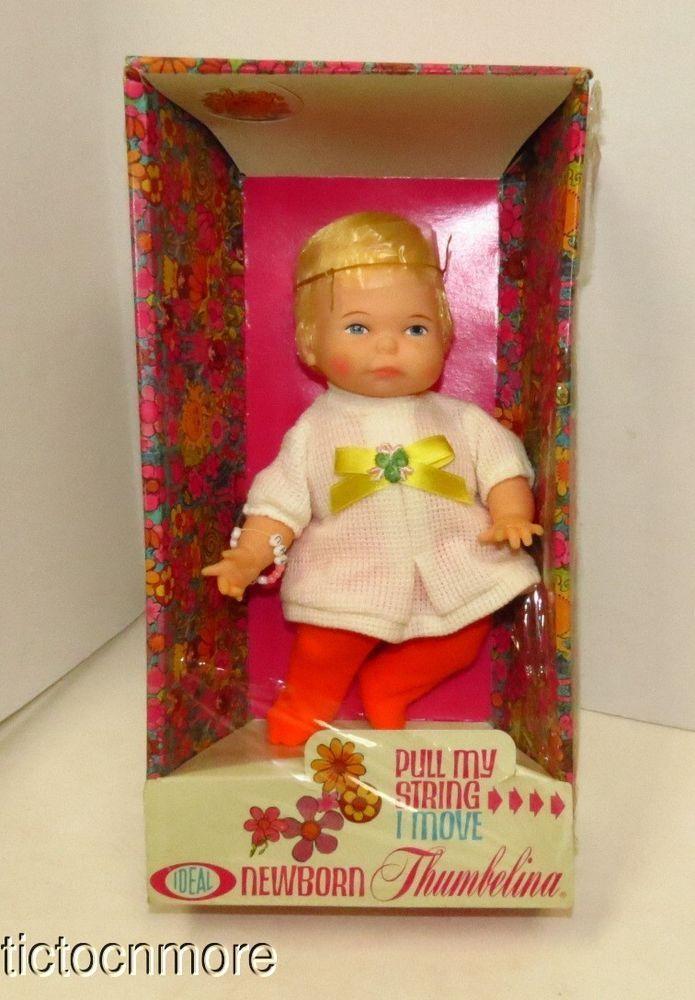 Vintage Ideal Newborn Thumbelina Pull String Baby Doll No