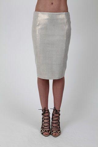 Classic Pencil Skirt Gold Dust - www.hideseekers.com