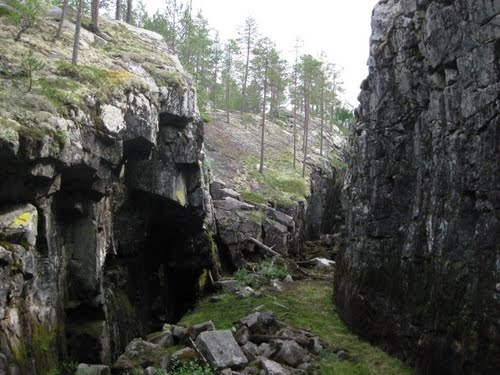 Discoverin Hyrynsalmi, Gobling's churce. You can find snow from there in the middle of summer!