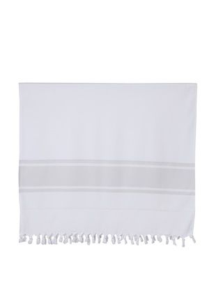 45% OFF Nine Space Ayrika Collection Extra-Soft Terry Fouta Towel, Gray, 40