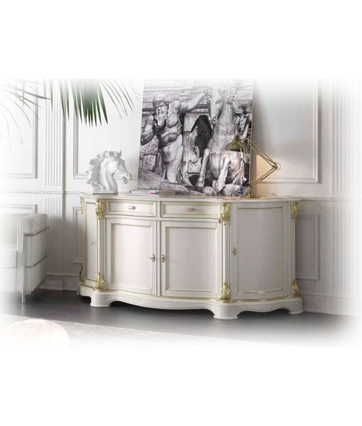 code. A4 lacquered sideboard very elegant with handmade golden details. Completely of wood. Italian product.