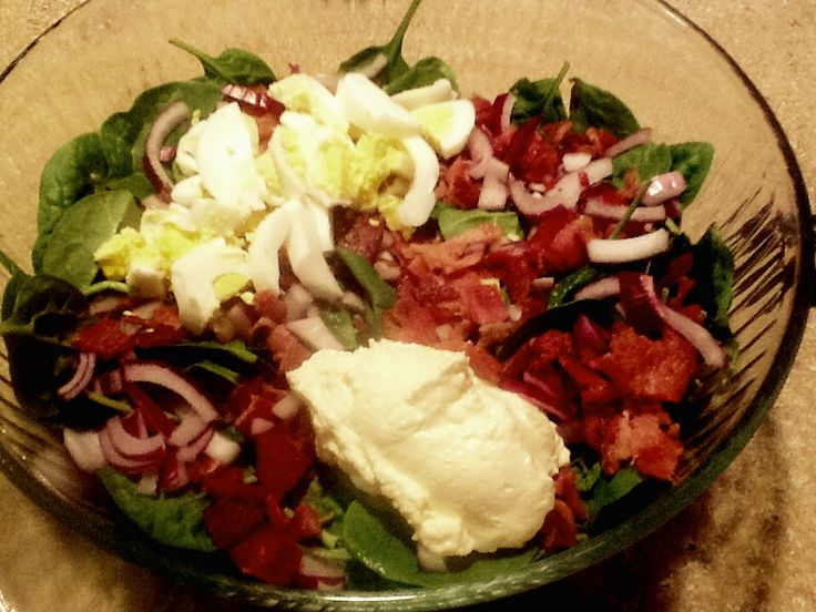 Nana's Little Kitchen: Simple Spinach Salad - for more recipes go to https://www.facebook.com/nanaslittlekitchen