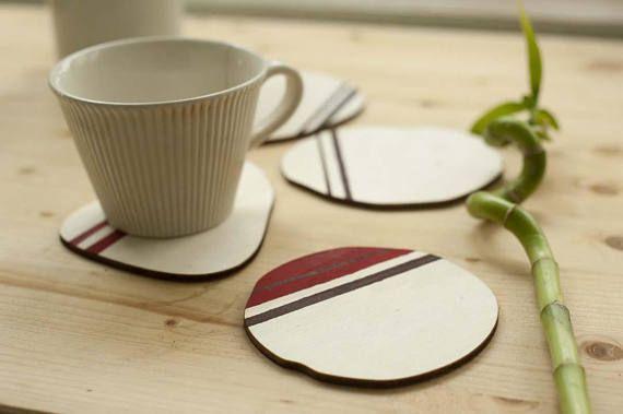 Coasters Set Wooden CoastersNatural Shape Coasters Unisex
