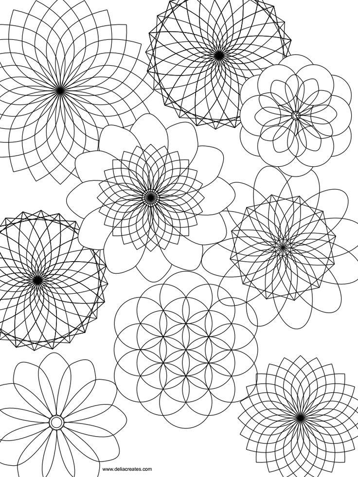 Free printable mandala coloring sheet