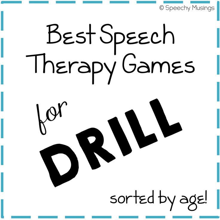 Speechy Musings: Best Speech Therapy Games for Drill by Age. Pinned by SOS Inc. Resources. Follow all our boards at http://pinterest.com/sostherapy/ for therapy resources.
