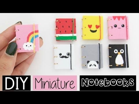 DIY MINI NOTEBOOKS - Four Easy & Cute Designs! - YouTube