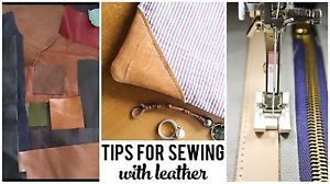 Tips for Sewing with Leather | eBay