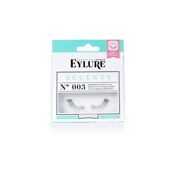 003 Accent Half Lashes by Eylure (€5,72) ❤ liked on Polyvore featuring beauty products, makeup, eye makeup, false eyelashes, teal, eylure false eyelashes and eylure