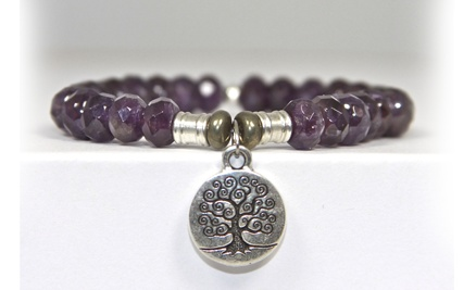 Tiffany Jazelle Amethyst with Tree of Life charm ..www.tiffanyjazelle.com