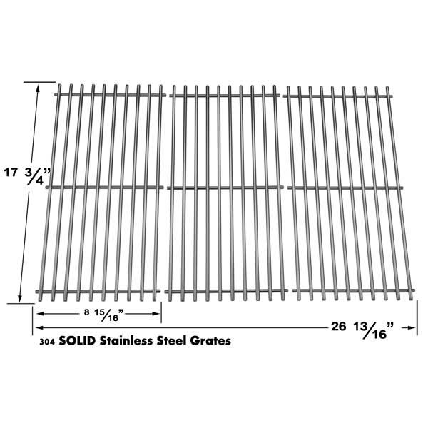 3 PACK STAINLESS STEEL COOKING GRID FOR BRINKMANN 810-9415W, PRO SERIES 8300, 810-2410-S, 810-7490-F, CHARMGLOW 810-8410-F AND GRILLADA GAS MODELS Fits Compatible Brinkmann Models : 810-8410-F, 810-2411-S, 810-2411-F, 810-7490-F, 810-8300, 810-8410-S, 810-8445F, 810-8445-F, 810-8446N, 810-8446-N, 810-9415F, 810-9415-F, 810-9415W, 810-9415-W, 810-8411-5, Pro Series 8300, 810-2410-S, 810-7490-F Read More @http://www.grillpartszone.com/shopexd.asp?id=34721&sid=17209