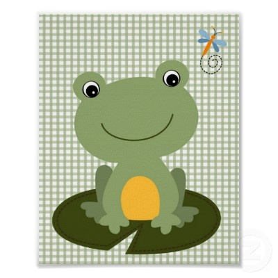 Hippity Frog Nursery Wall Art Print
