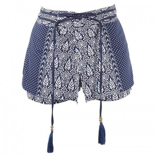 SHORTS ''LEAF BLUE'' MEDIUM (100% RAYON)