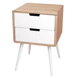 Sängbord Vit 60cm Modernt nattduksbord