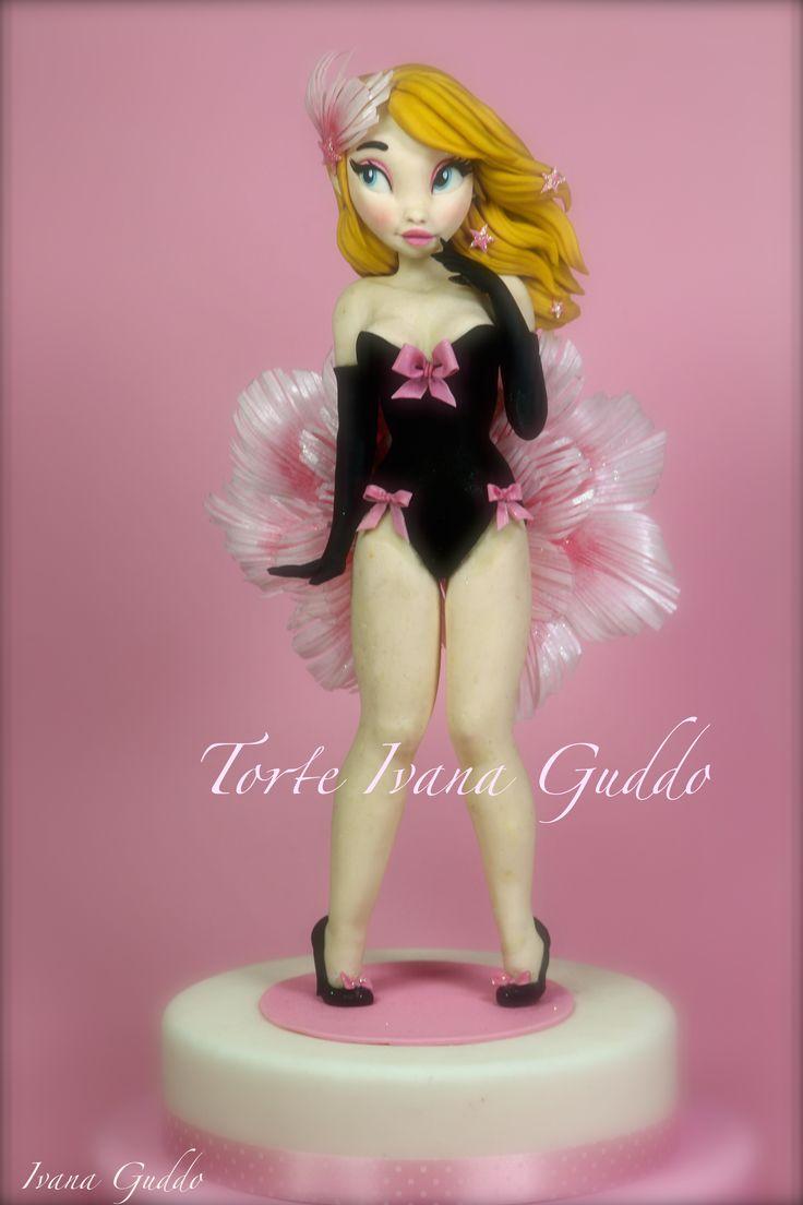 """Burlesque girl cake"" https://www.facebook.com/pages/Torte-di-Ivana-Guddo/317176505051760?ref=hl"