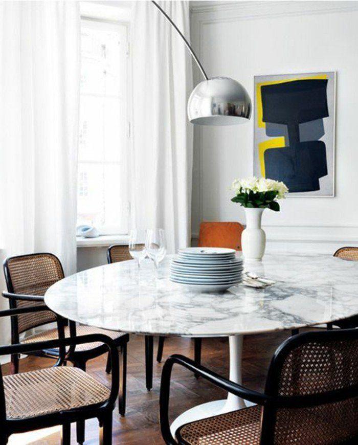 meuble de salle manger table ronde de salle manger et lampe de sol
