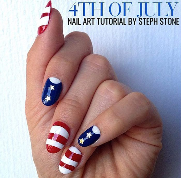 44 best independence day nail designs images on pinterest 4th of 4th of july nail art design memorial day prinsesfo Image collections