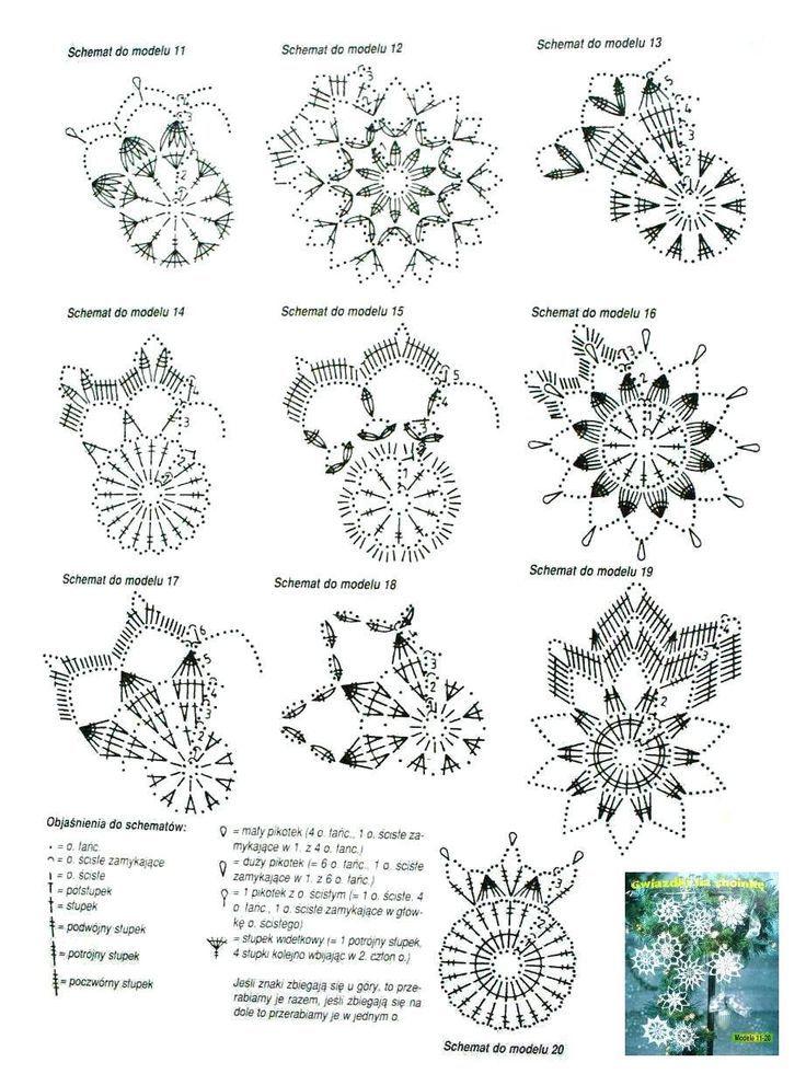 snowflakes crochet 192 schema                                                                                                                                                                                 Mehr