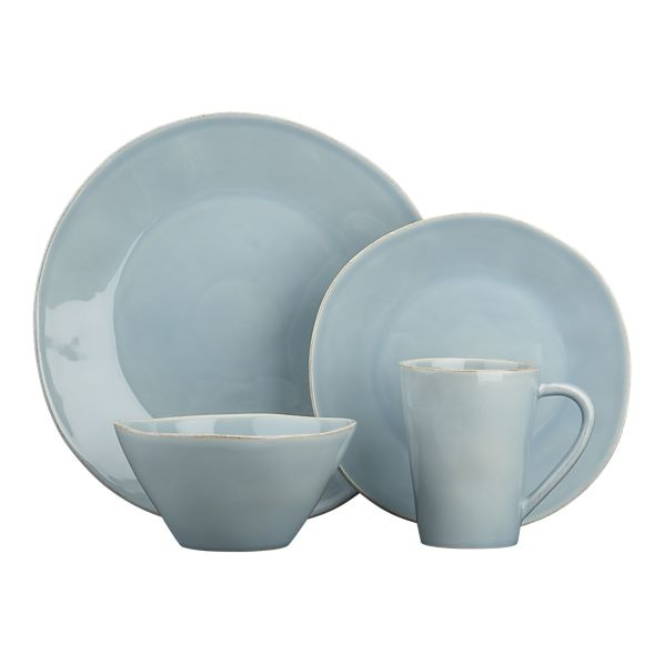 LOVE this. Marin Blue 4 Piece Place Setting from Crate&Barrel