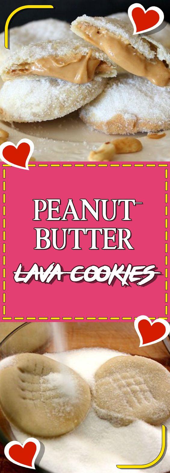 Peanut butter lava cookies.