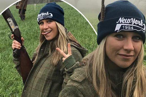 Chloe Madeley angers fans wearing 'dead pheasant' in shooting selfies on Instagram