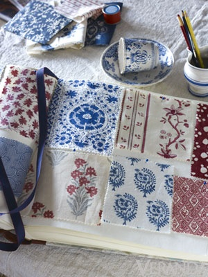 These are the Indian block prints I am talking about. Your space is crying out for some lighthearted textiles.