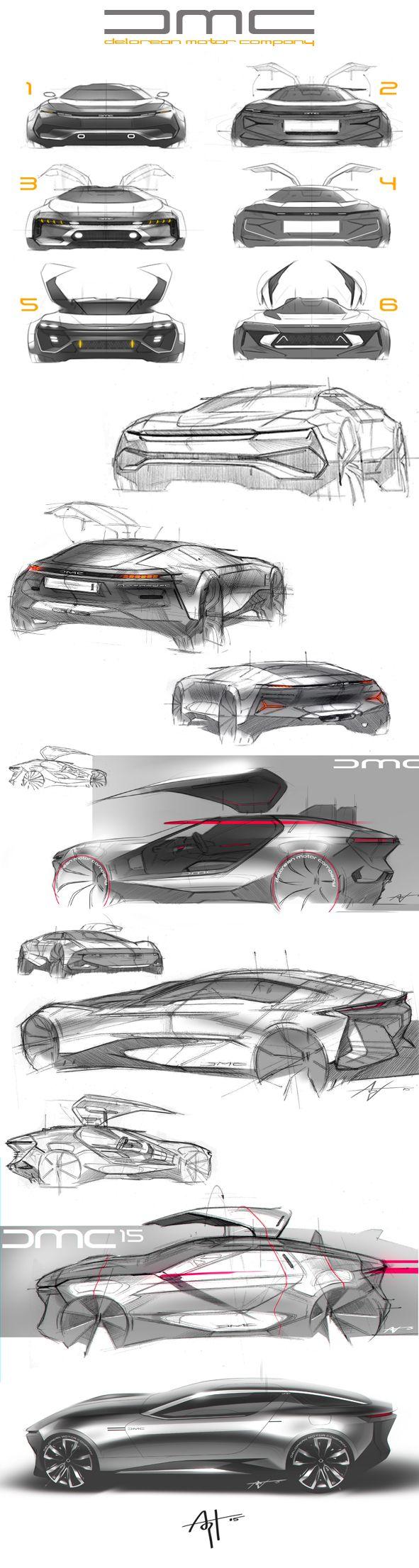 Some randon DeLorean sketches.. on Behance