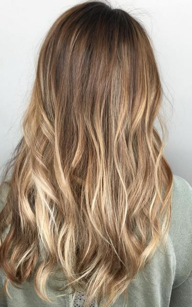 balayage bronde hair color
