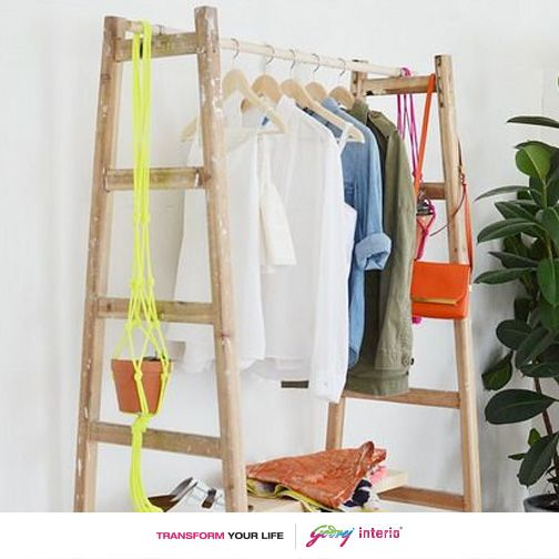 here is a unique and awesome way to store your clothes.