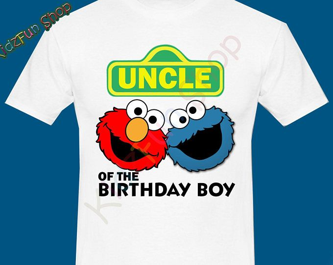 Uncle ELMO INSTANT DOWNLOAD Iron On Transfer Boys Birthday Shirt