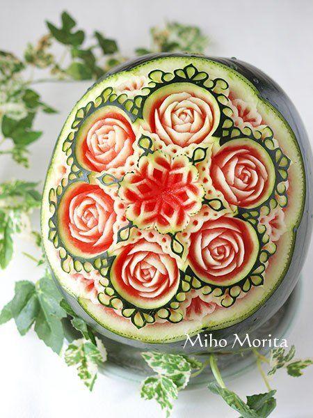fruit carving - Miho Morita: