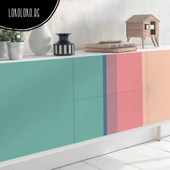Mejores 59 imgenes de Color Blocks Vinilos para muebles pared en