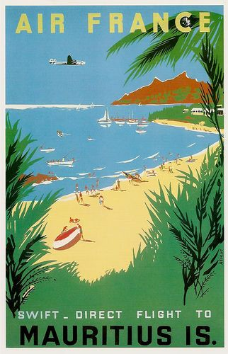 Vintage Travel Poster - Mauritius - Island in the Indian Ocean.