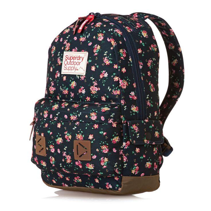 Superdry Stem Floral Montana Backpack - Navy
