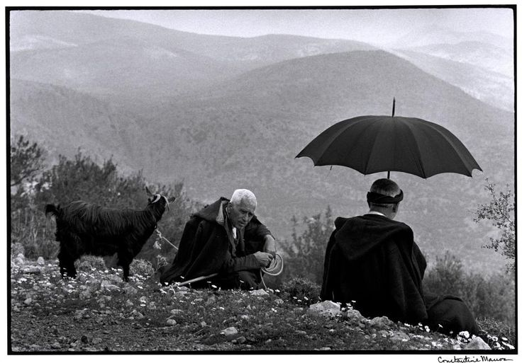 """Constantine """"Costa"""" Manos (1934 South Carolina): GREECE. Crete. 1964. Shepherds with goat. """"A Greek Portfolio"""".  © Costa Manos/Magnum Photos"""