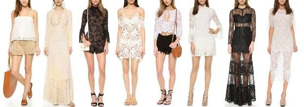 Kimba Likes Shopbop seasonal trends - eyelet and lace | Shopbop Friends and Family Sale
