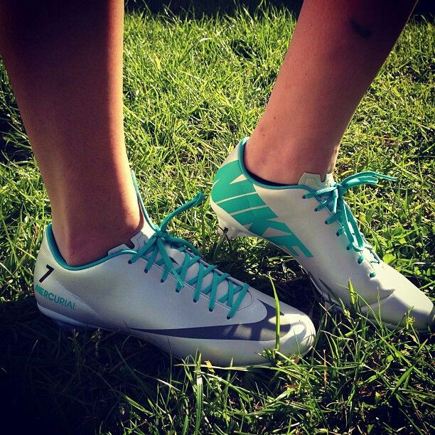 Turquoise soccer cleats