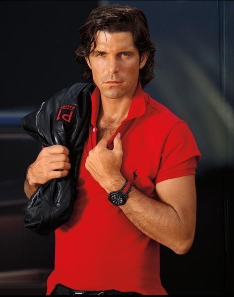 fig.: Polo player Nacho Figueras in vibrant red polo shirt for the new fragrance 'Polo Red' by Ralph Lauren, launch in July 2013.