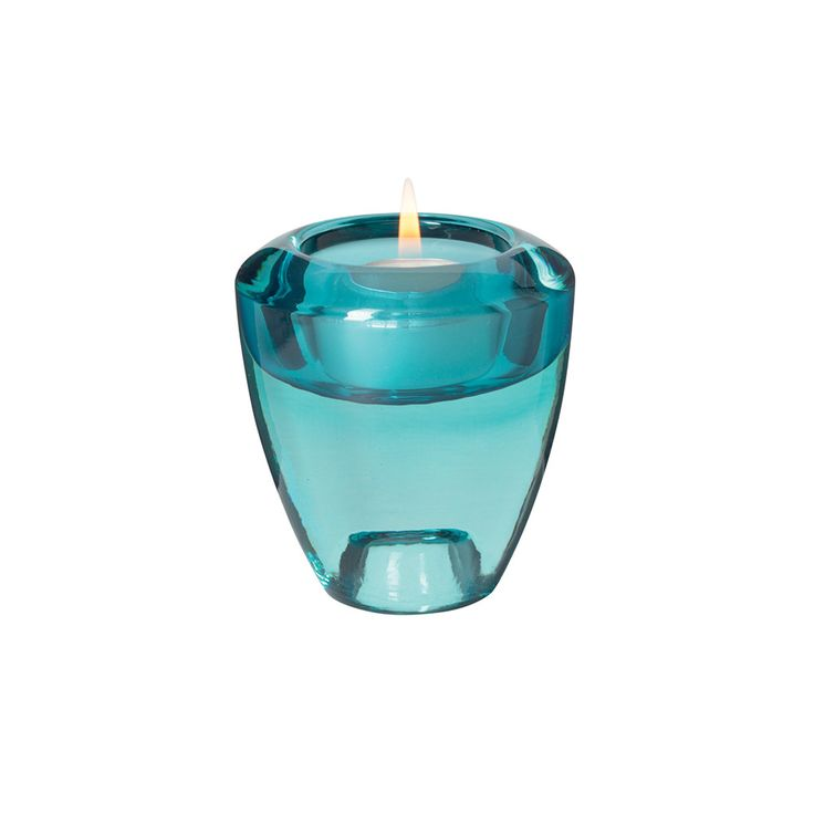 Leonardo - Flick Flack Tealight Holder - Turquoise