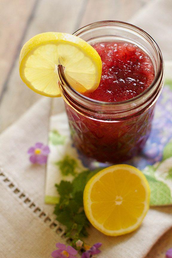 Lemon Blueberry Moonshine Slush | 19 Moonshine Recipes That Are Perfectly Legal