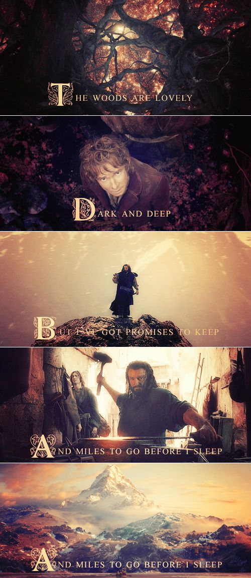 Oh My Gosh! My favorite Robert Frost poem meets the Hobbit! This is awesome!
